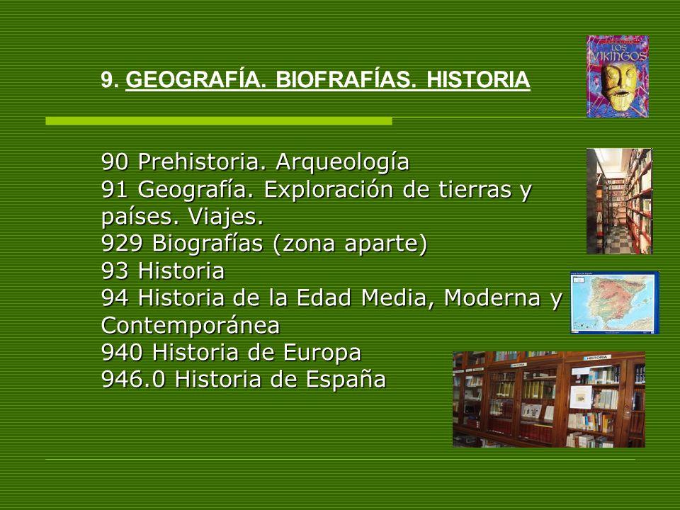 9. GEOGRAFÍA. BIOFRAFÍAS. HISTORIA