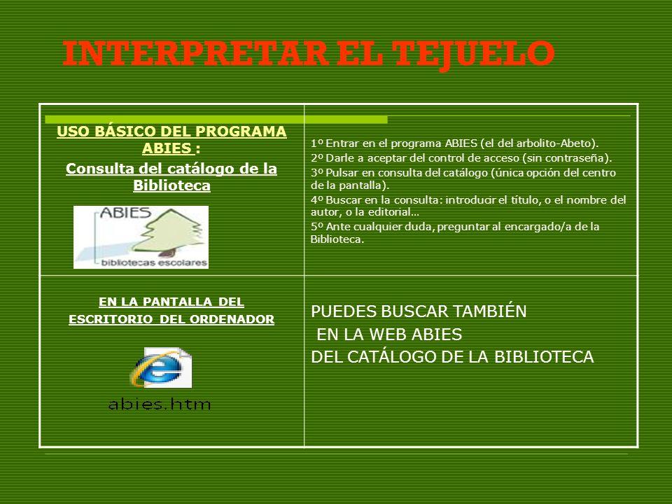 INTERPRETAR EL TEJUELO
