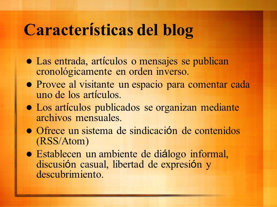 Características del blog