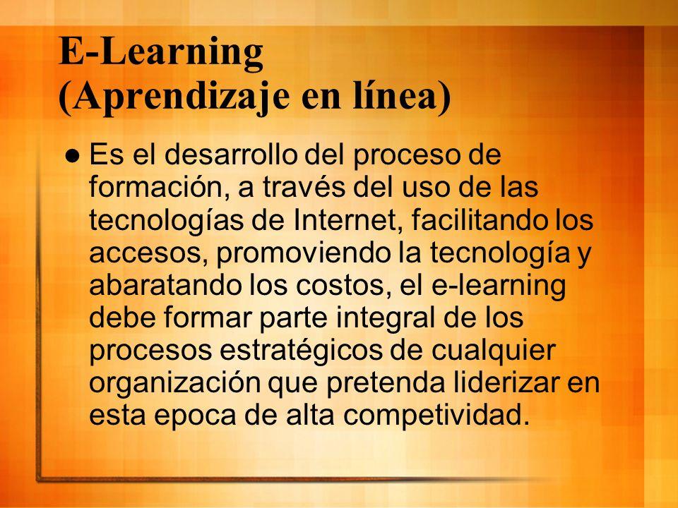 E-Learning (Aprendizaje en línea)