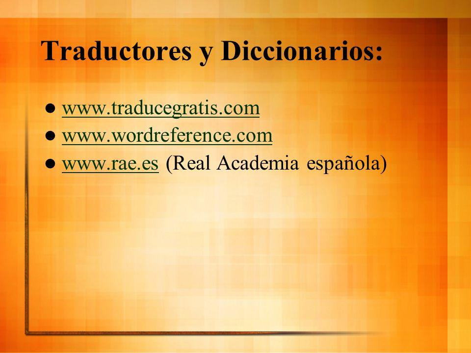 Traductores y Diccionarios: