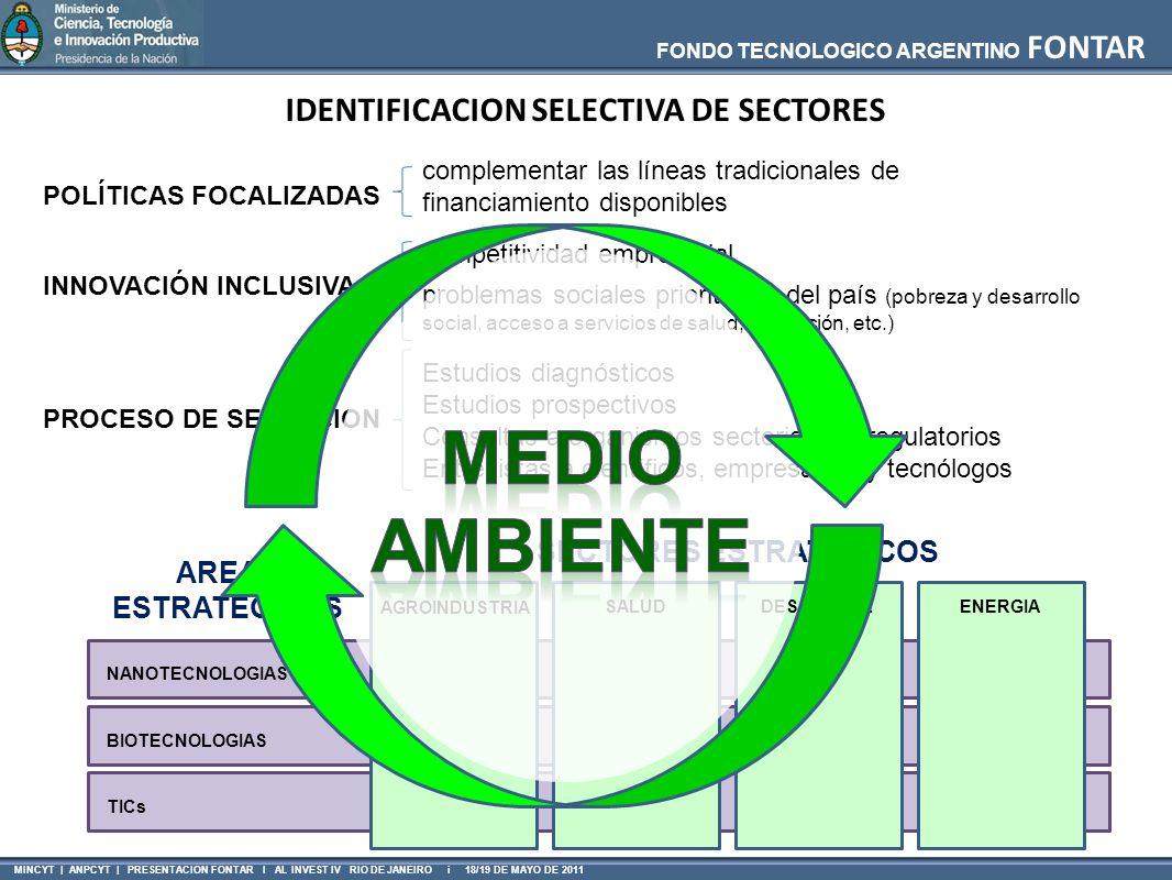 IDENTIFICACION SELECTIVA DE SECTORES SECTORES ESTRATÉGICOS