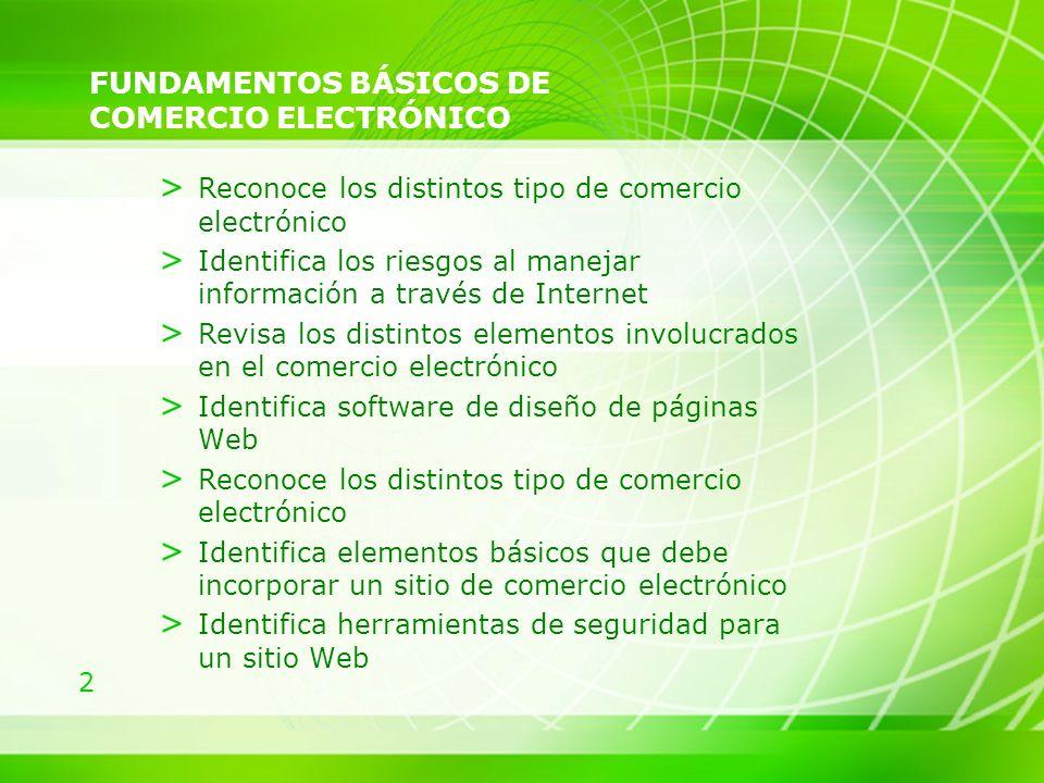 FUNDAMENTOS BÁSICOS DE COMERCIO ELECTRÓNICO