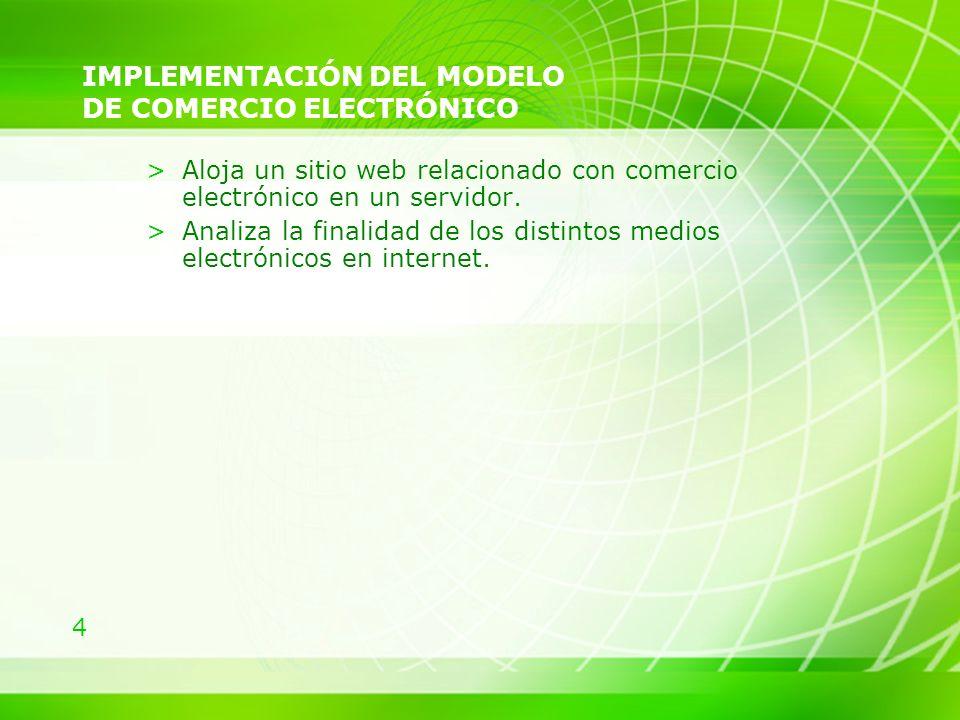 IMPLEMENTACIÓN DEL MODELO DE COMERCIO ELECTRÓNICO