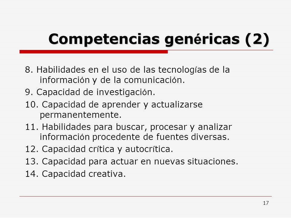 Competencias genéricas (2)