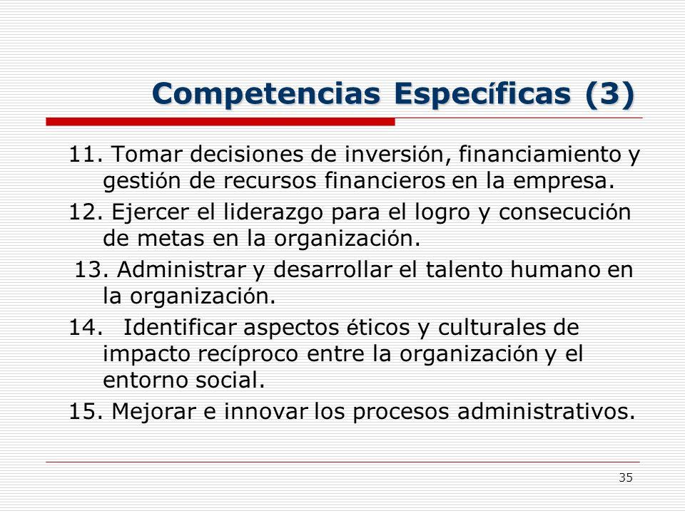 Competencias Específicas (3)