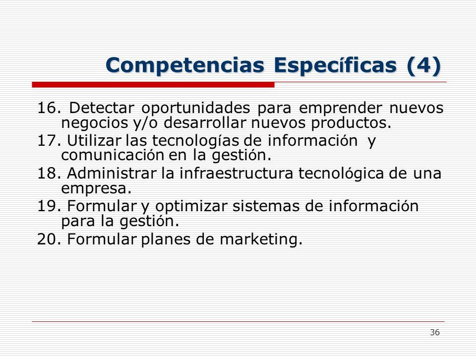 Competencias Específicas (4)