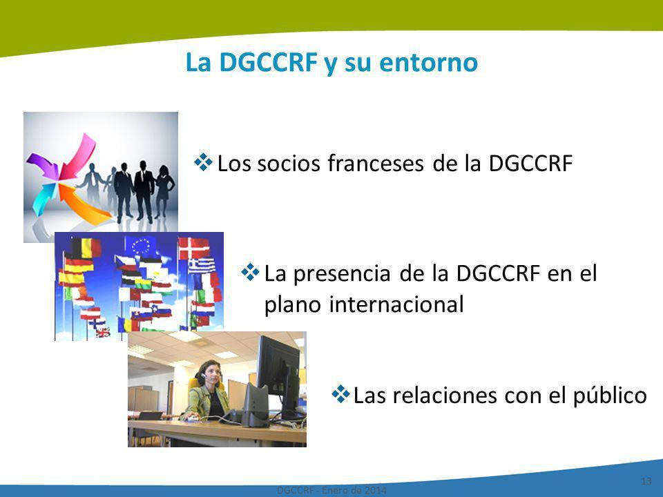 La DGCCRF y su entorno Los socios franceses de la DGCCRF