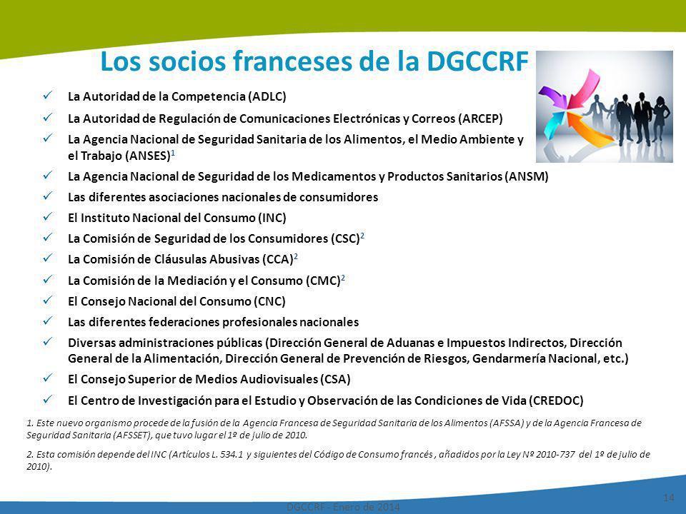 Los socios franceses de la DGCCRF