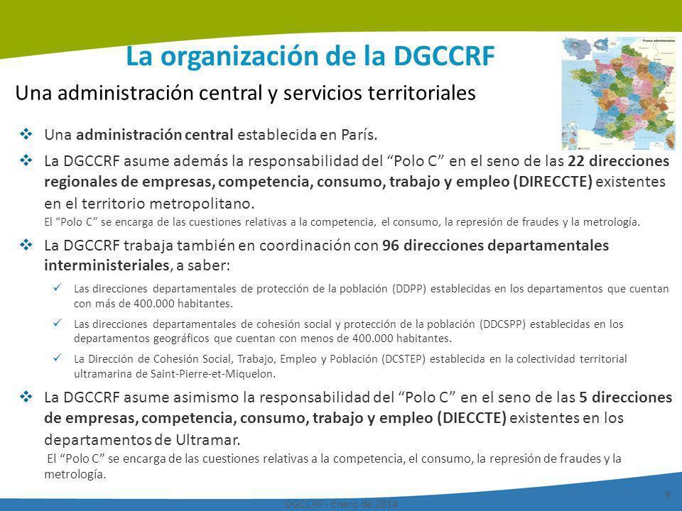 La organización de la DGCCRF