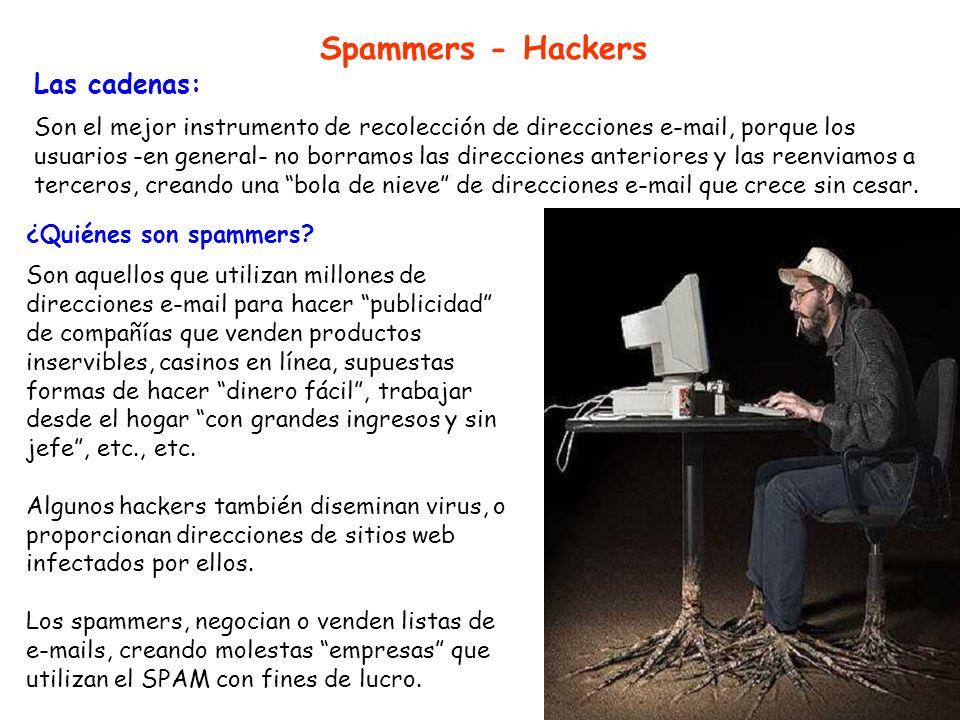 Spammers - Hackers Las cadenas: