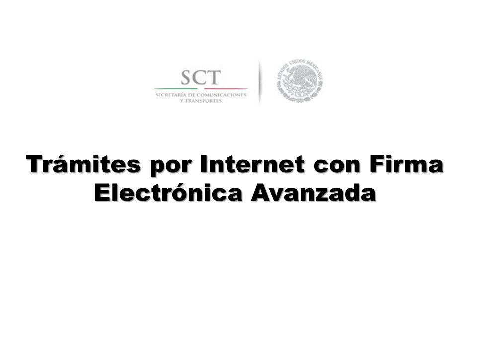 Trámites por Internet con Firma Electrónica Avanzada