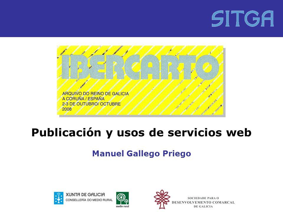 Publicación y usos de servicios web