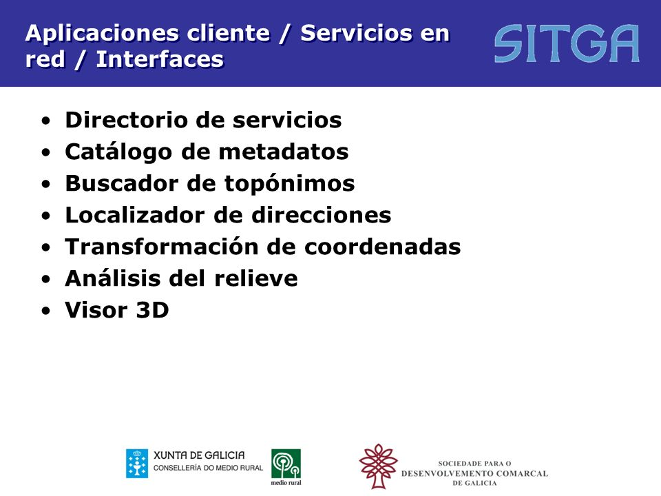 Aplicaciones cliente / Servicios en red / Interfaces