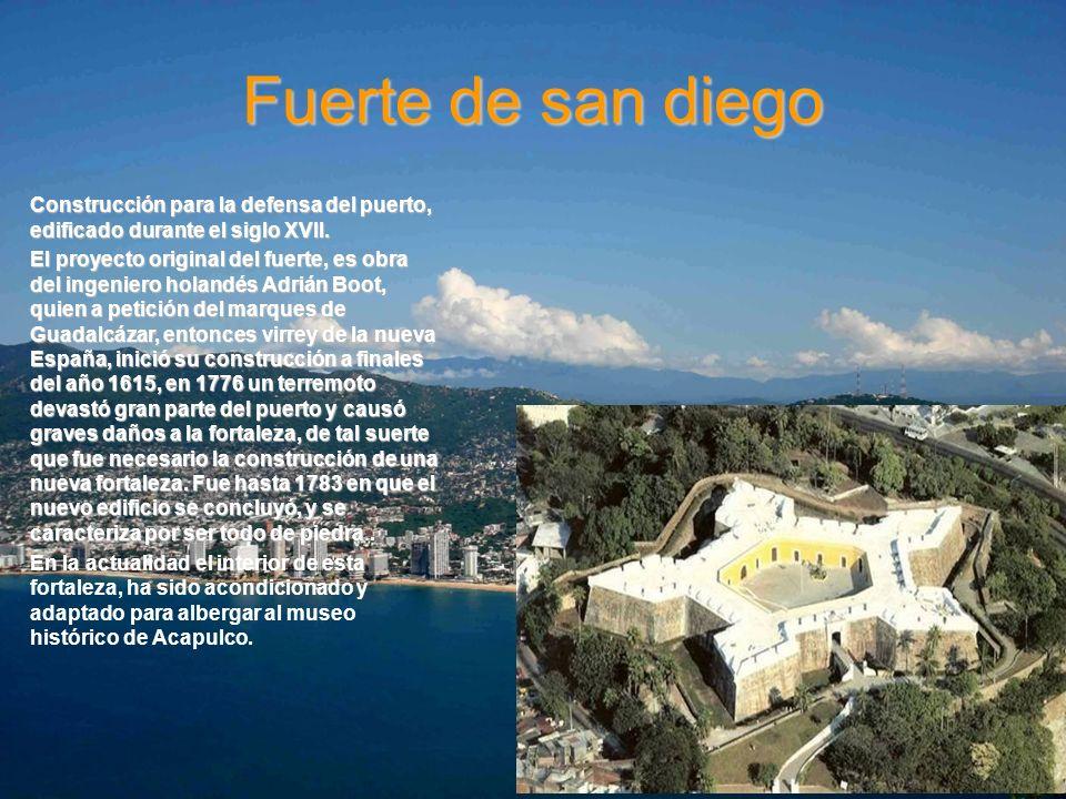 Fuerte de san diegoConstrucción para la defensa del puerto, edificado durante el siglo XVII.