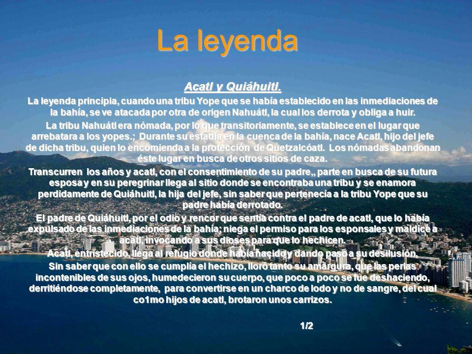 La leyenda Acatl y Quiáhuitl.