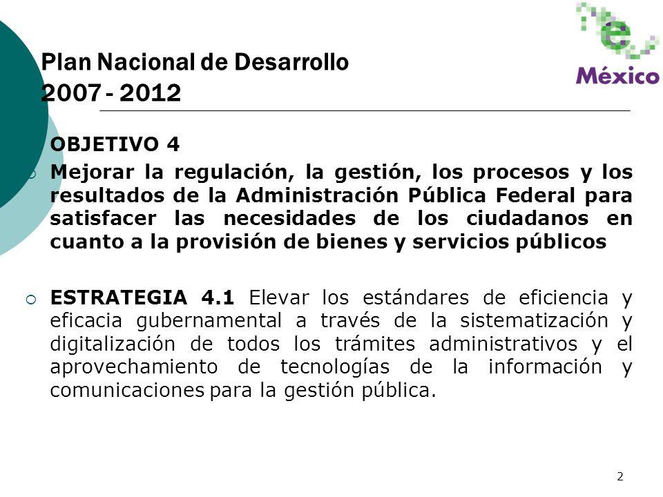 Plan Nacional de Desarrollo 2007 - 2012