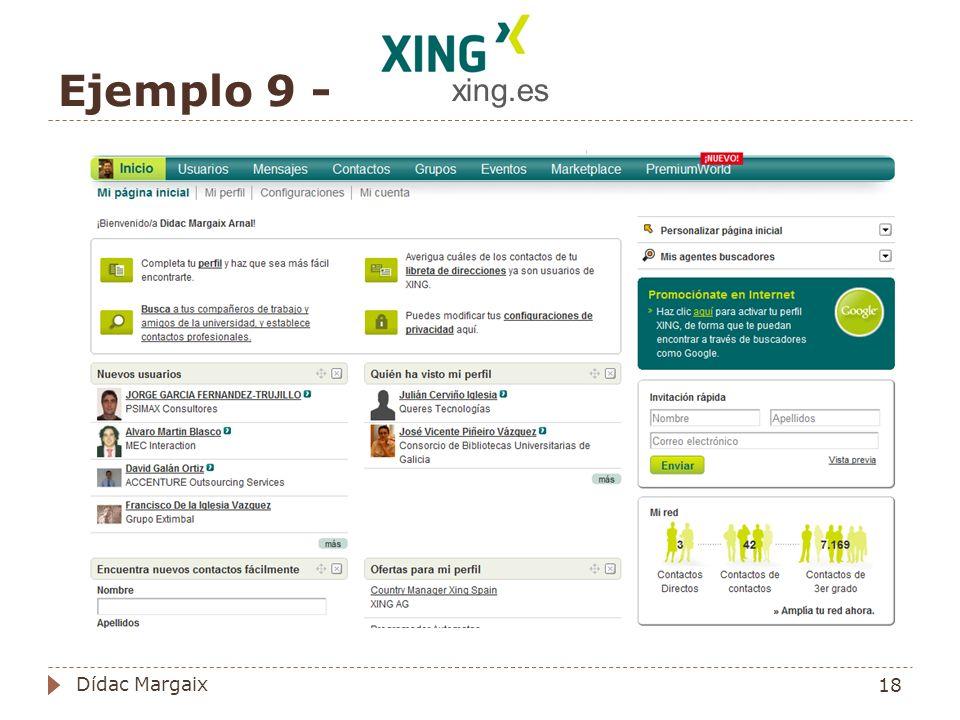 xing.es Ejemplo 9 - Dídac Margaix