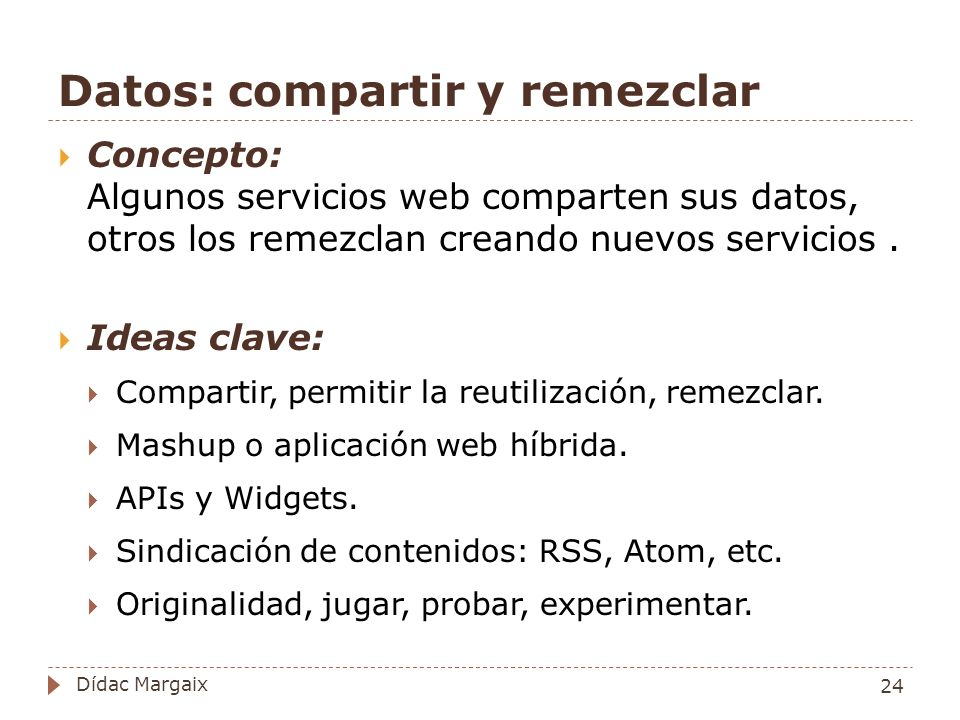 Datos: compartir y remezclar