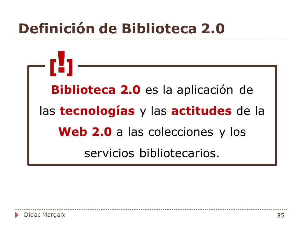 Definición de Biblioteca 2.0