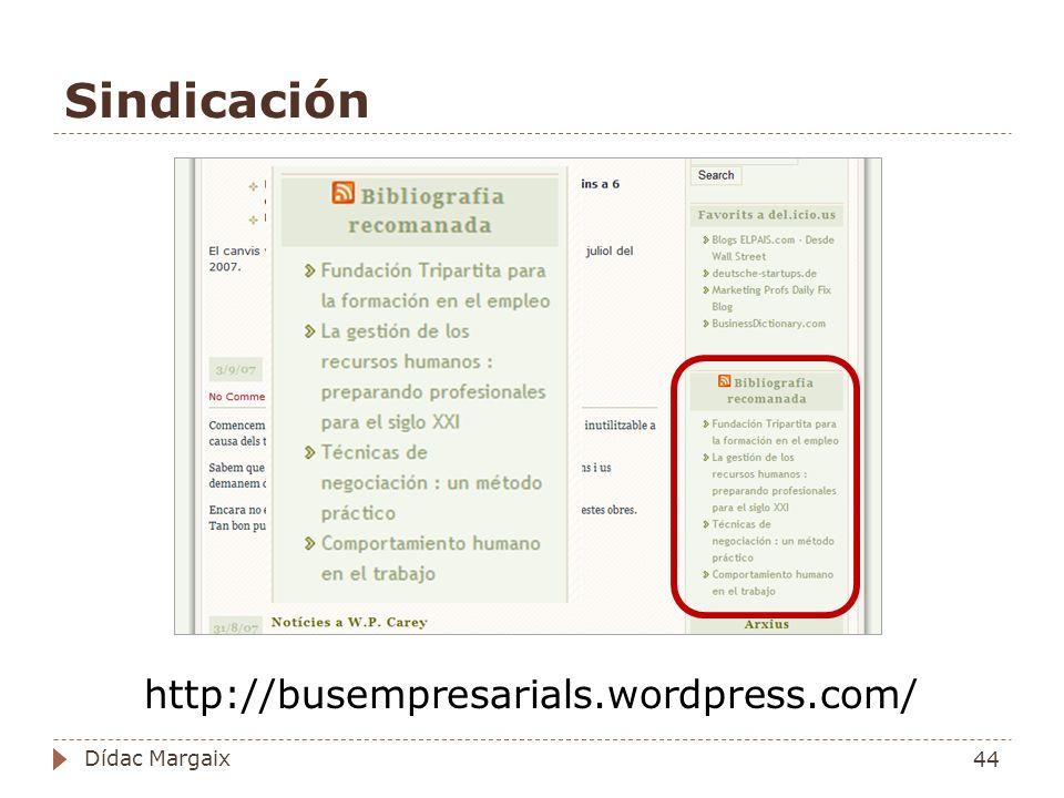 Sindicación http://busempresarials.wordpress.com/ Dídac Margaix
