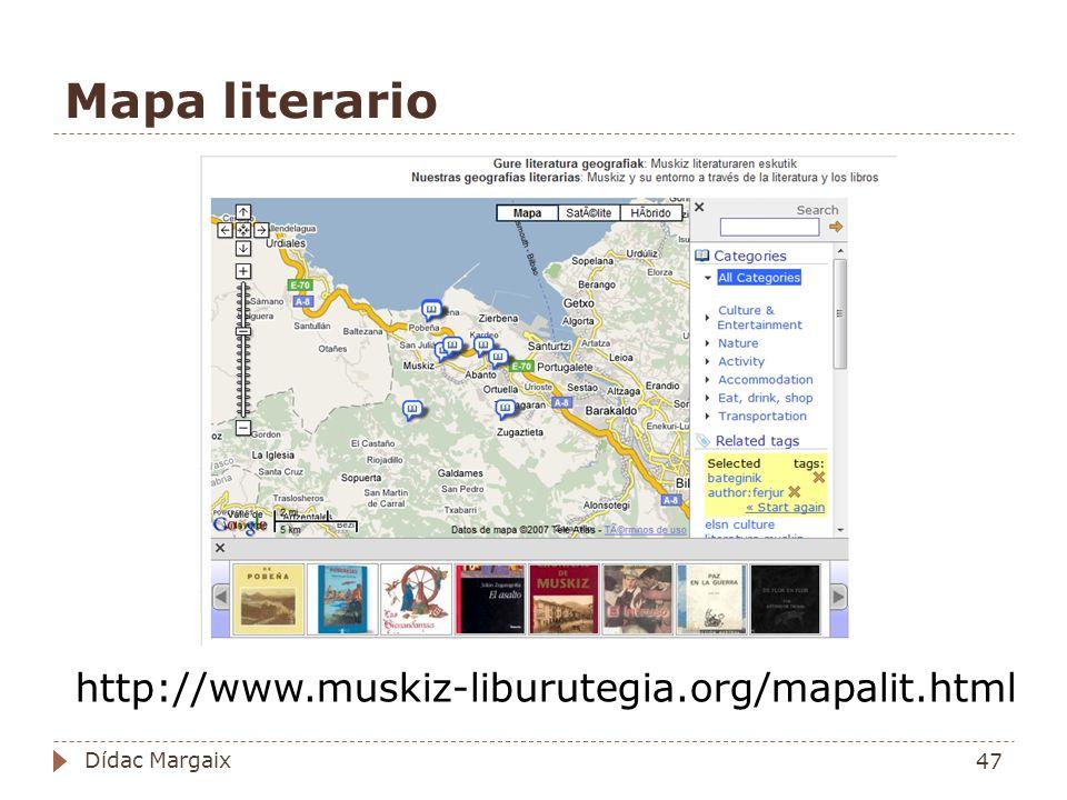 Mapa literario http://www.muskiz-liburutegia.org/mapalit.html