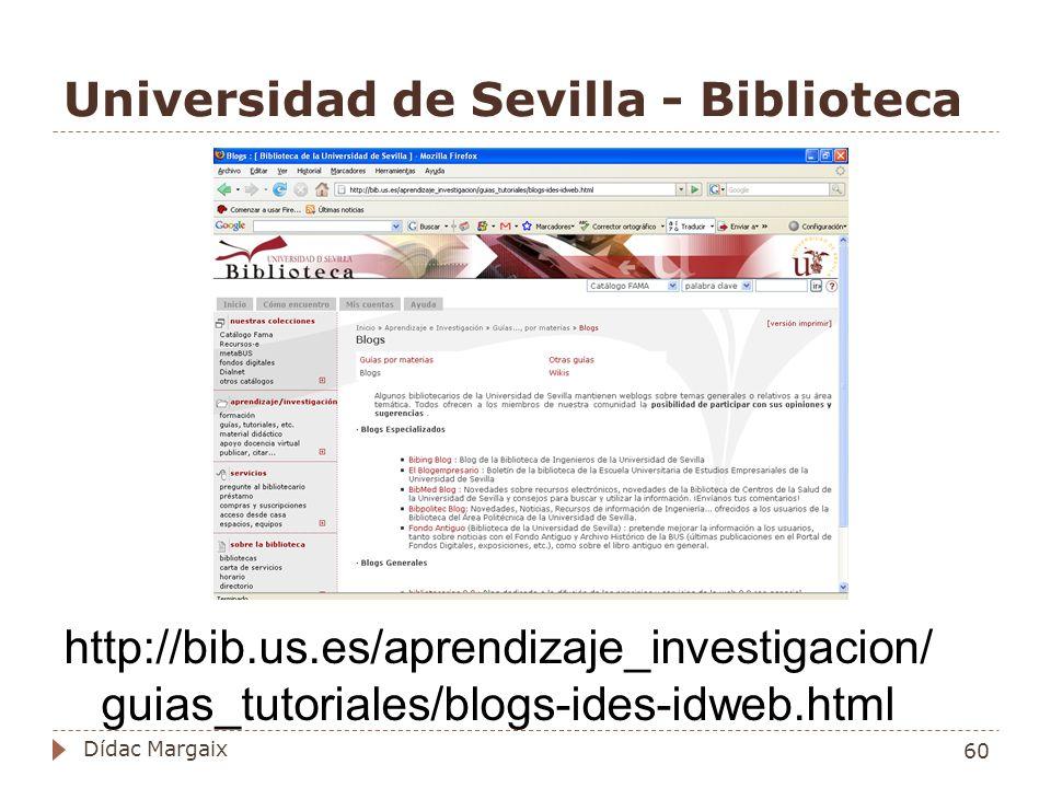 Universidad de Sevilla - Biblioteca