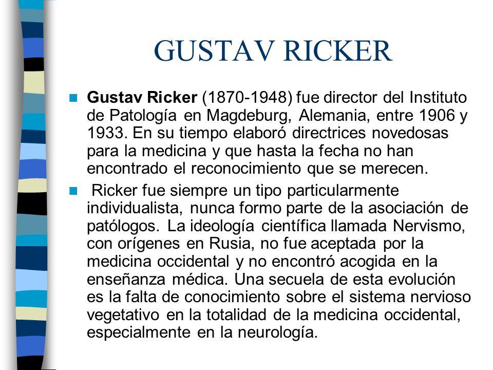 GUSTAV RICKER