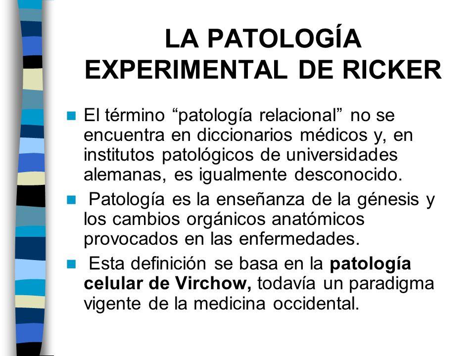 LA PATOLOGÍA EXPERIMENTAL DE RICKER