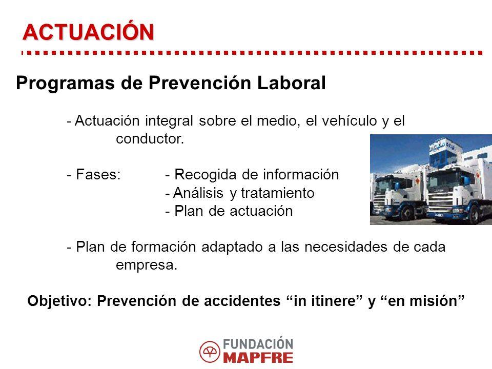 Objetivo: Prevención de accidentes in itinere y en misión