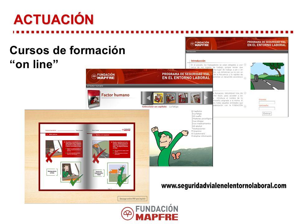 www.seguridadvialenelentornolaboral.com ACTUACIÓN Cursos de formación