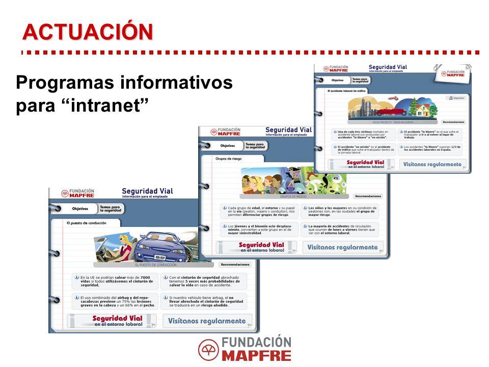 ACTUACIÓN Programas informativos para intranet