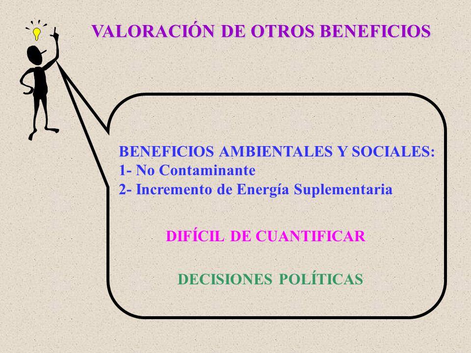 VALORACIÓN DE OTROS BENEFICIOS