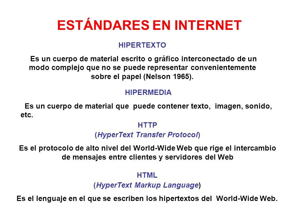 ESTÁNDARES EN INTERNET