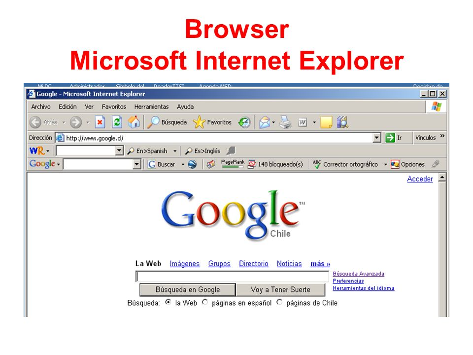 Browser Microsoft Internet Explorer