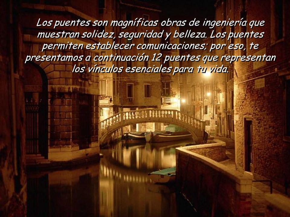 Los puentes son magníficas obras de ingeniería que muestran solidez, seguridad y belleza.