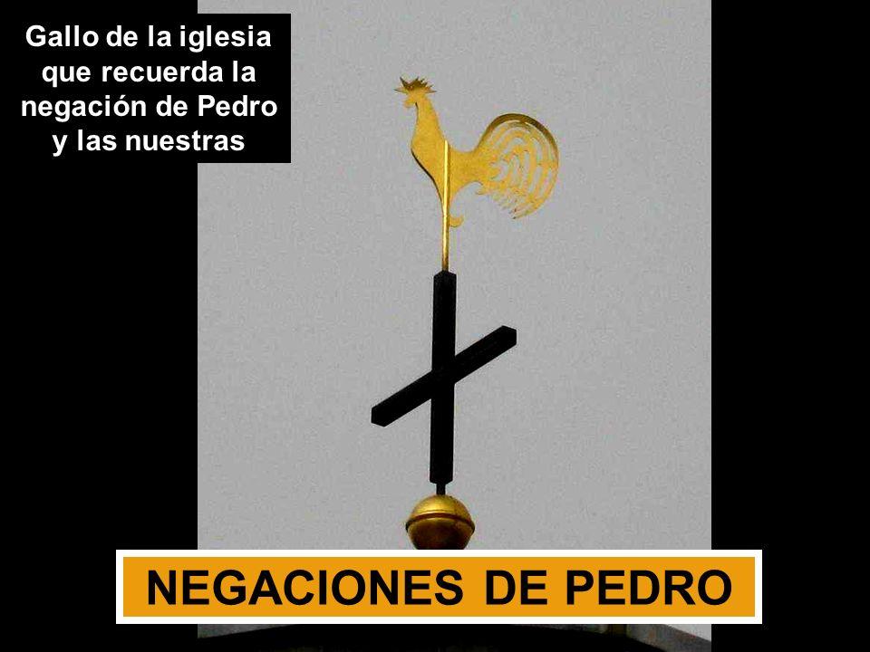 Gallo de la iglesia que recuerda la negación de Pedro y las nuestras