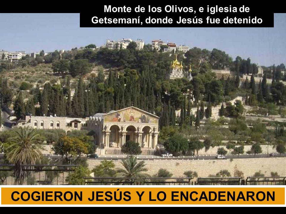 COGIERON JESÚS Y LO ENCADENARON