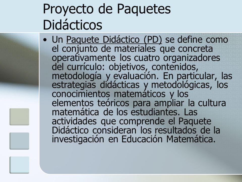 Proyecto de Paquetes Didácticos