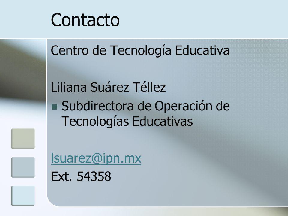 Contacto Centro de Tecnología Educativa Liliana Suárez Téllez