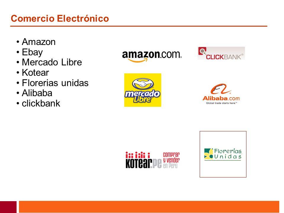 Comercio Electrónico Amazon Ebay Mercado Libre Kotear Florerias unidas Alibaba clickbank