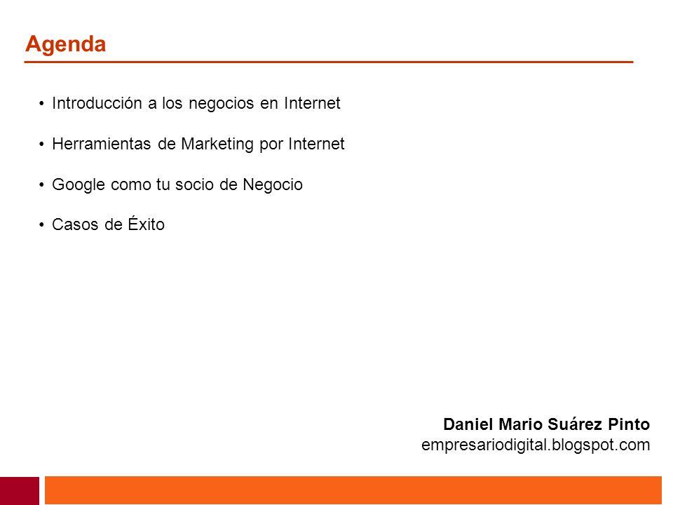 Agenda Introducción a los negocios en Internet