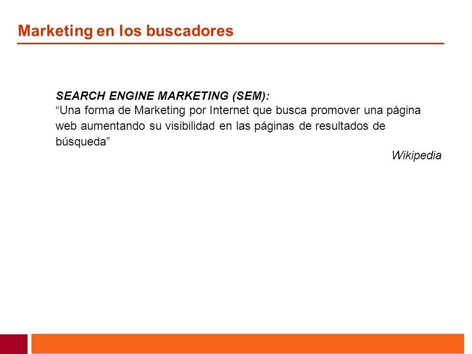 Marketing en los buscadores
