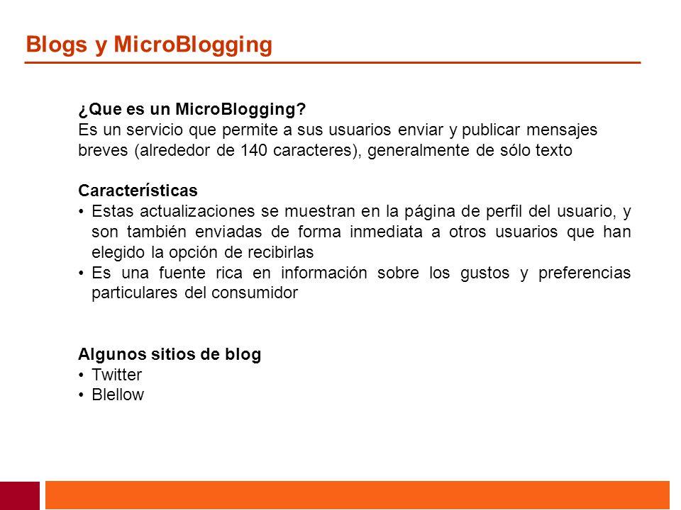 Blogs y MicroBlogging ¿Que es un MicroBlogging