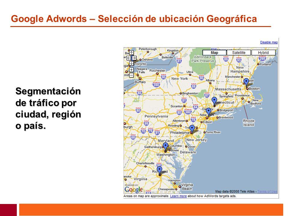 Google Adwords – Selección de ubicación Geográfica