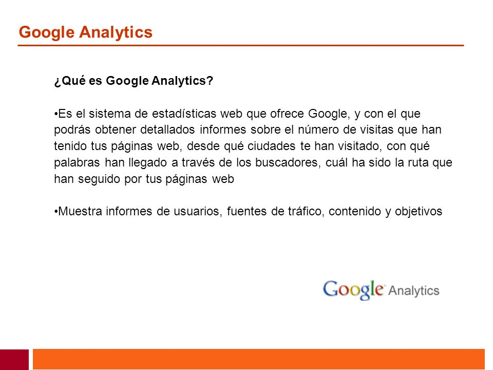 Google Analytics ¿Qué es Google Analytics