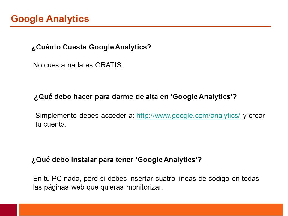 Google Analytics ¿Cuánto Cuesta Google Analytics
