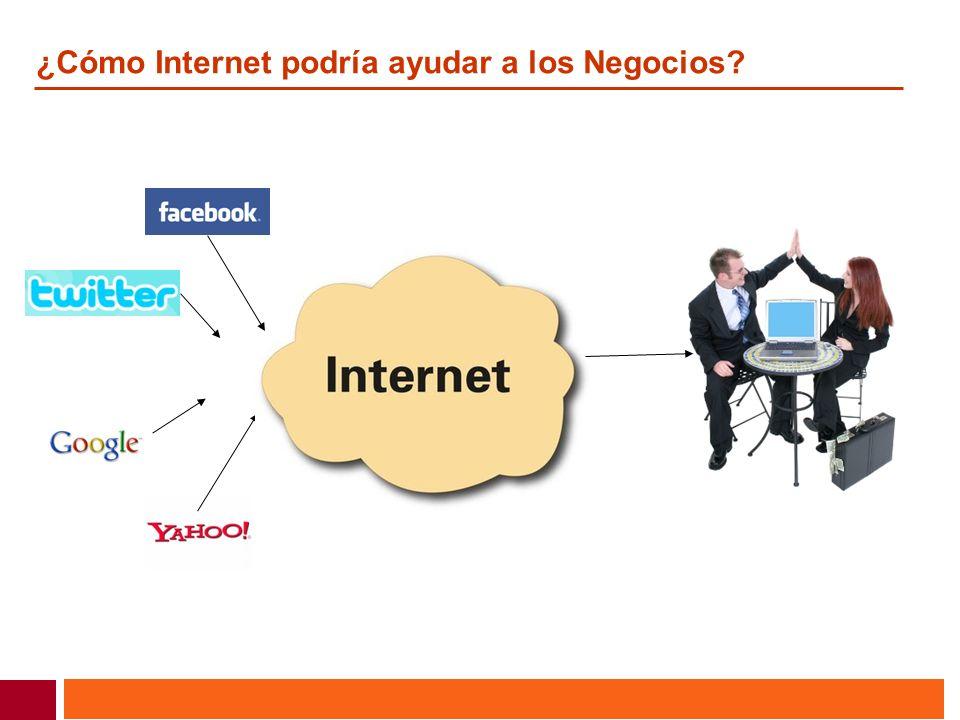 ¿Cómo Internet podría ayudar a los Negocios