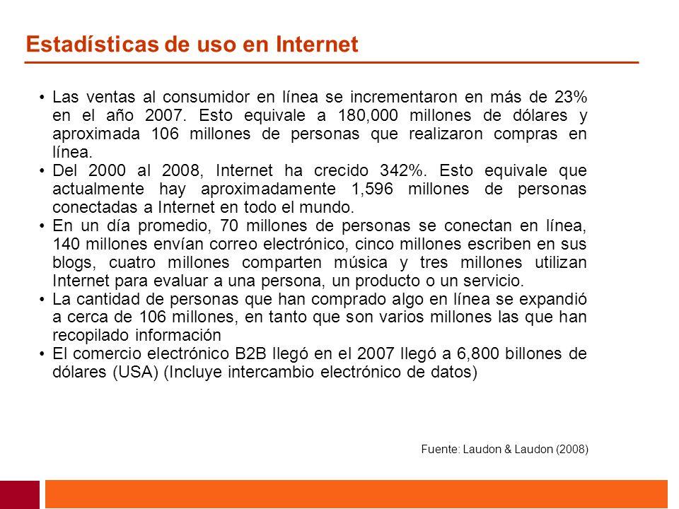 Estadísticas de uso en Internet