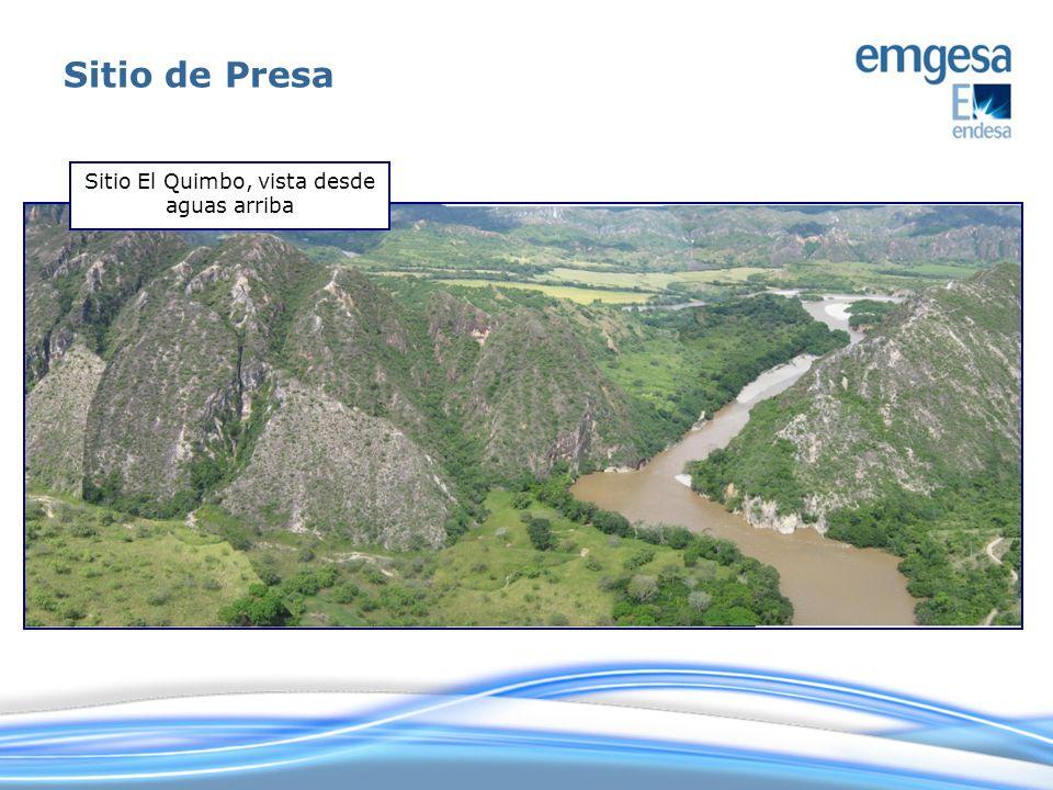 Sitio El Quimbo, vista desde aguas arriba